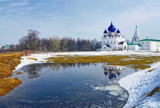 Suzdal Church Background for Android, iPhone and iPad