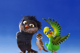 Angry Birds the Movie sfondi gratuiti per Nokia Asha 302