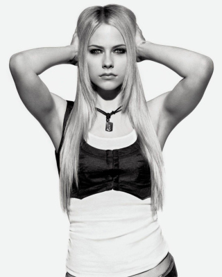 Avril Lavigne Smile - Obrázkek zdarma pro Nokia Asha 202