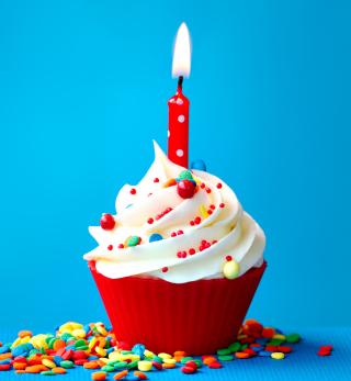 Happy Birthday Cupcake - Obrázkek zdarma pro 320x320