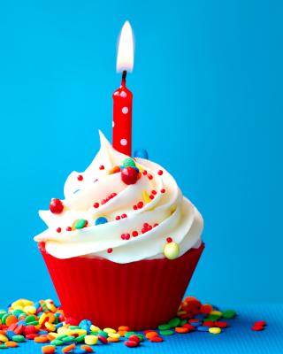 Happy Birthday Cupcake - Obrázkek zdarma pro 352x416