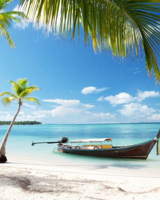 Tulum, Mexico Tropical Beach - Obrázkek zdarma pro 320x480