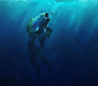 Piranha Goldfish - Obrázkek zdarma pro 320x320