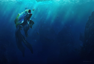 Piranha Goldfish - Obrázkek zdarma pro Samsung Galaxy Ace 4