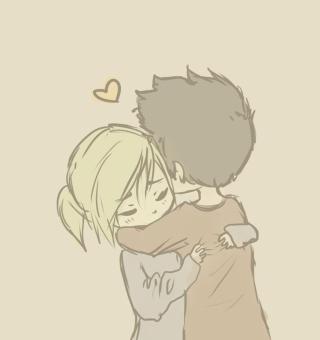 Couple Hug - Obrázkek zdarma pro iPad mini 2