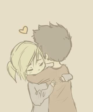 Couple Hug - Obrázkek zdarma pro Nokia Asha 309