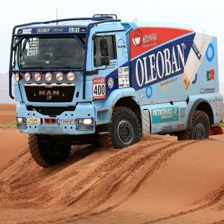Dakar Rally Man Truck - Obrázkek zdarma pro 128x128