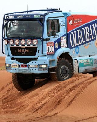 Dakar Rally Man Truck - Obrázkek zdarma pro 128x160