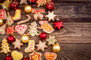 Christmas Decorations Cookies and Balls - Obrázkek zdarma pro Desktop Netbook 1366x768 HD