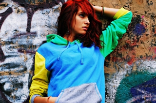 Graffiti Girl - Obrázkek zdarma pro 480x320