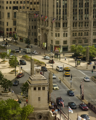 Chicago Street - Obrázkek zdarma pro Nokia Asha 305