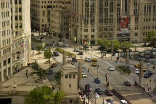 Chicago Street Background for Android, iPhone and iPad