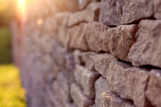 Macro Brick Wall Closeup Background for Android, iPhone and iPad