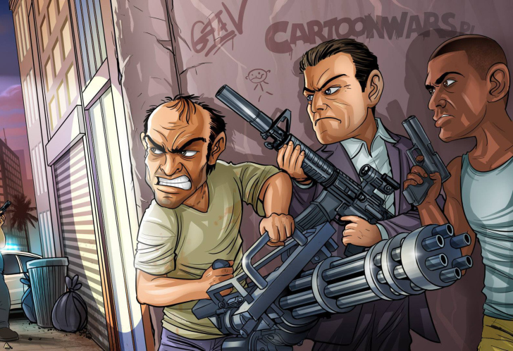 Grand Theft Auto V Gangsters Wallpaper For Android, IPhone