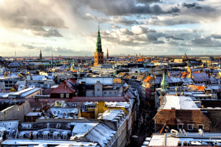 Copenhagen Roofs Background for Android, iPhone and iPad