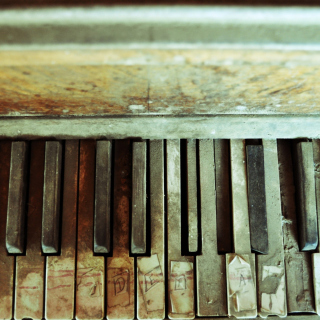 Old Piano Keyboard - Obrázkek zdarma pro 320x320