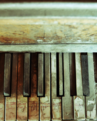 Old Piano Keyboard - Obrázkek zdarma pro Nokia C3-01