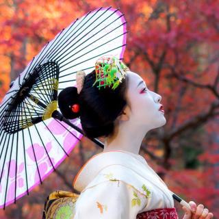 Japanese Girl with Umbrella - Obrázkek zdarma pro iPad Air