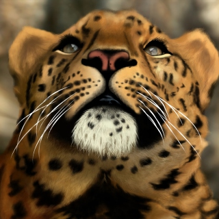 Leopard Art Picture - Obrázkek zdarma pro 320x320