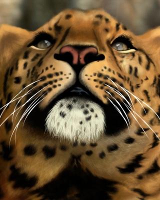 Leopard Art Picture - Obrázkek zdarma pro Nokia Asha 503