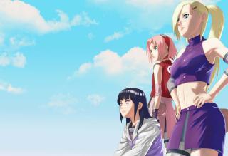 Free Naruto Girls - Sakura and Hinata Hyuga Picture for Android, iPhone and iPad
