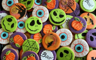 Scary Cookies Background for Android, iPhone and iPad
