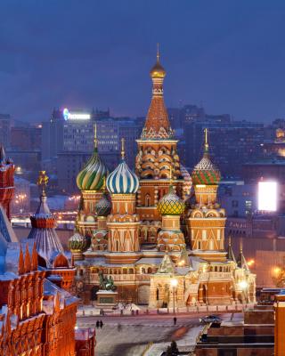 Moscow Winter cityscape - Obrázkek zdarma pro 480x640