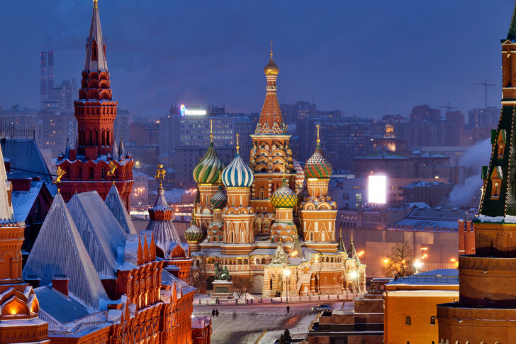 Moscow Winter cityscape wallpaper