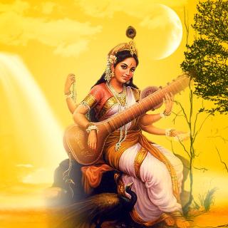 Saraswathi God - Obrázkek zdarma pro iPad