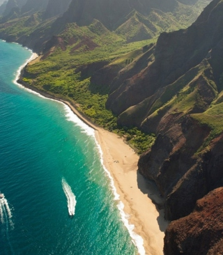 Cliffs Ocean Kauai Beach Hawai - Fondos de pantalla gratis para Huawei G7300