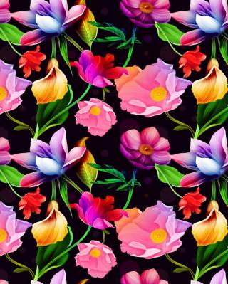 Colorful Flowers - Obrázkek zdarma pro Nokia X1-00