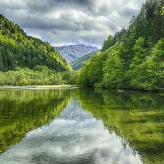 Shine on Green Lake, Austria - Obrázkek zdarma pro 128x128