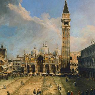Piazza San Marco in Venice Postcard - Obrázkek zdarma pro 320x320