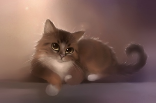 Good Kitty Painting Background for Android, iPhone and iPad