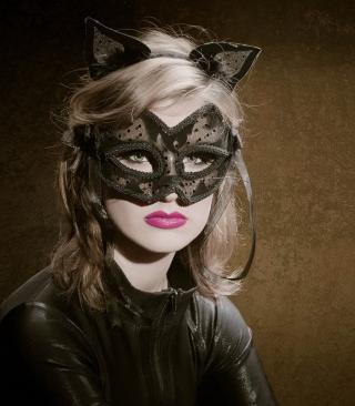 Cat Woman Mask - Obrázkek zdarma pro Nokia Asha 202
