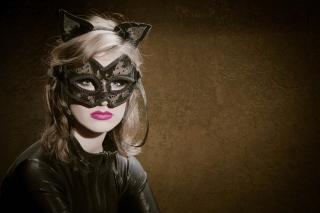 Cat Woman Mask - Obrázkek zdarma pro LG Optimus M