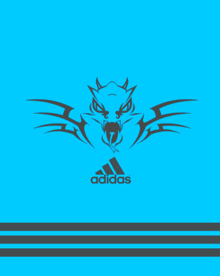 Adidas Blue Background - Obrázkek zdarma pro iPhone 6 Plus