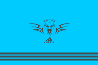 Adidas Blue Background - Obrázkek zdarma pro Widescreen Desktop PC 1440x900