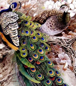 Peacock Painting - Obrázkek zdarma pro Nokia C-Series