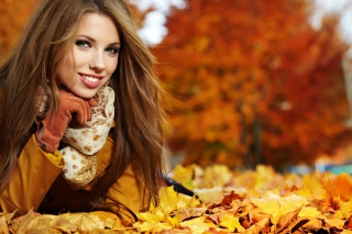 Autumn Girl Wallpaper for Android, iPhone and iPad