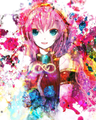 Megurine Luka Vocaloid - Obrázkek zdarma pro Nokia C3-01 Gold Edition