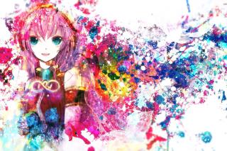 Megurine Luka Vocaloid - Obrázkek zdarma pro Motorola DROID 2