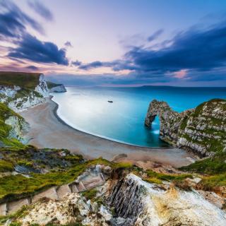 Durdle Door on Jurassic Coast in Dorset, England - Obrázkek zdarma pro iPad mini
