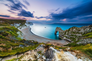 Durdle Door on Jurassic Coast in Dorset, England - Obrázkek zdarma pro Widescreen Desktop PC 1280x800