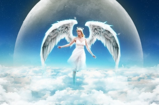 Beautiful Blonde Angel - Obrázkek zdarma pro Samsung P1000 Galaxy Tab