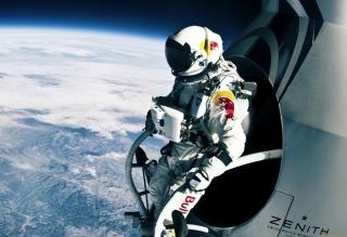 Felix Baumgartner Cosmic Jump - Obrázkek zdarma pro Fullscreen Desktop 1400x1050
