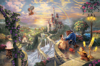Free Thomas Kinkade, Beauty And The Beast Picture for Android, iPhone and iPad