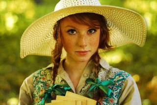Romantic Girl In Straw Hat - Obrázkek zdarma pro HTC One