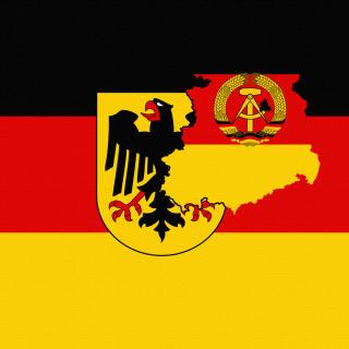 German Flag With Eagle Emblem - Obrázkek zdarma pro 208x208