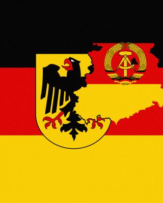 German Flag With Eagle Emblem - Obrázkek zdarma pro 240x320